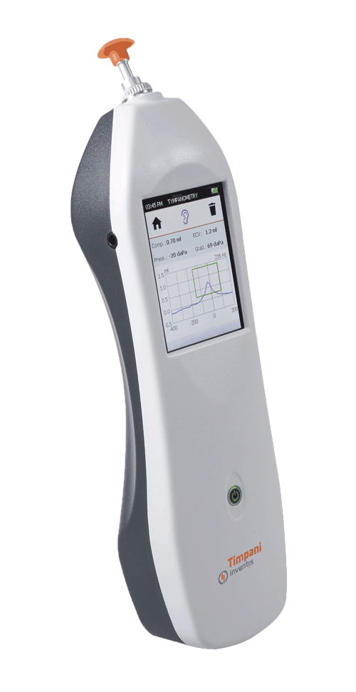 Tympanometer for middle ear screening tests